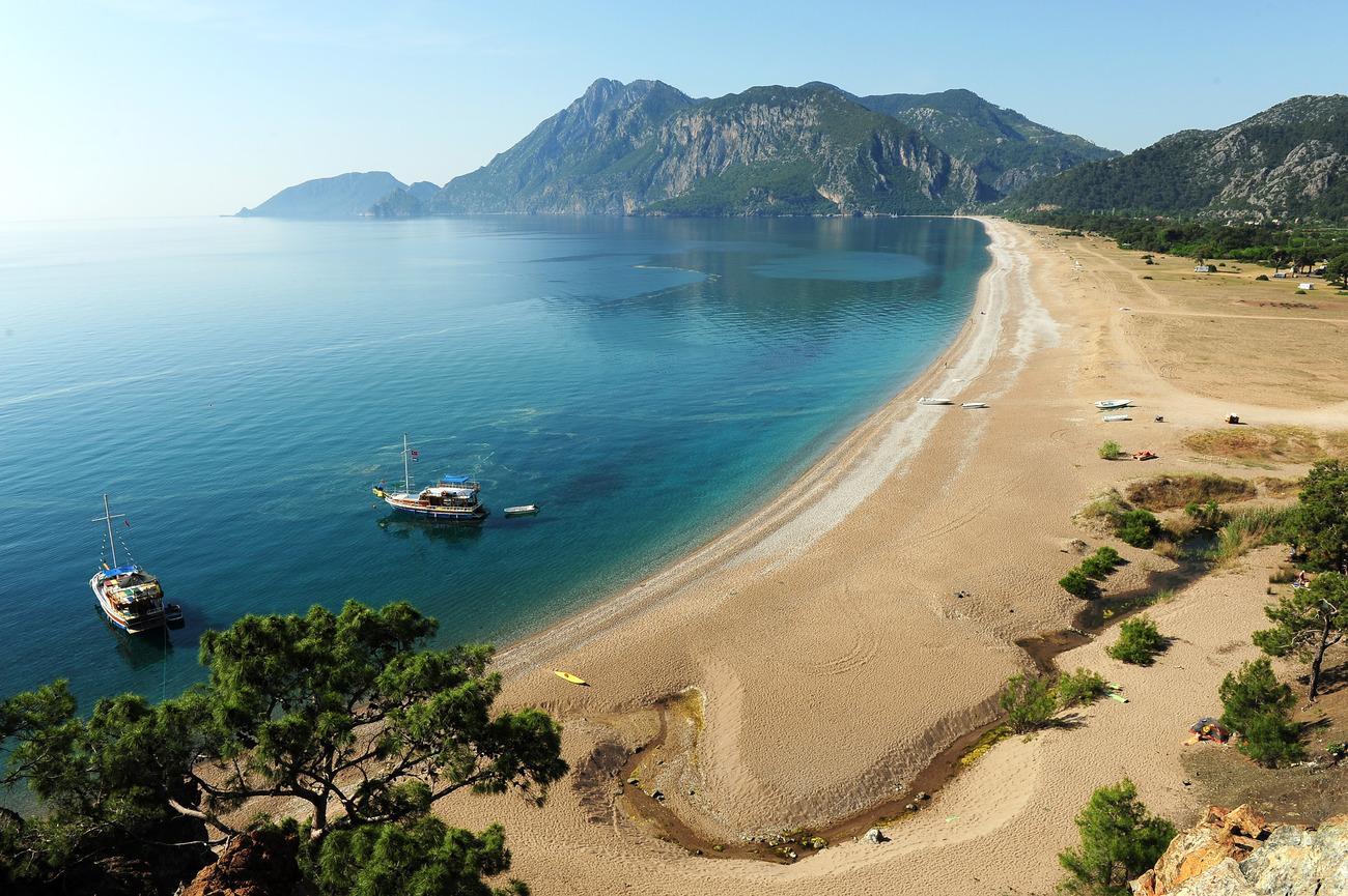 Фото пляжа в Турции