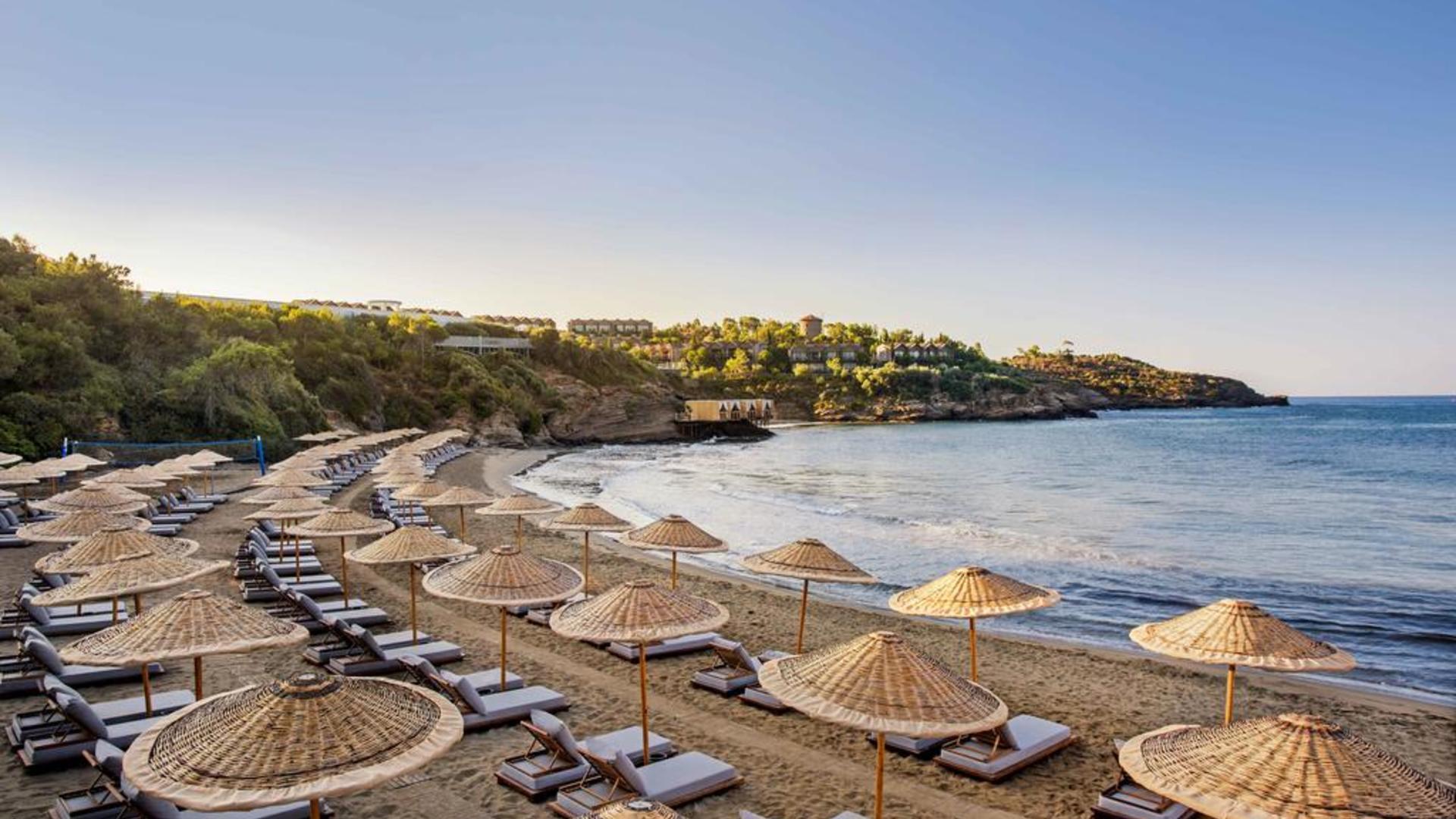 Пляж у отеля Палома Клаб Султан Оздер