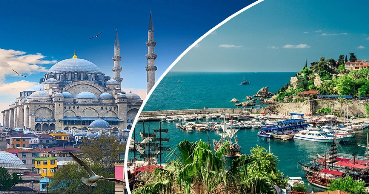 Фото Анталии и Стамбула