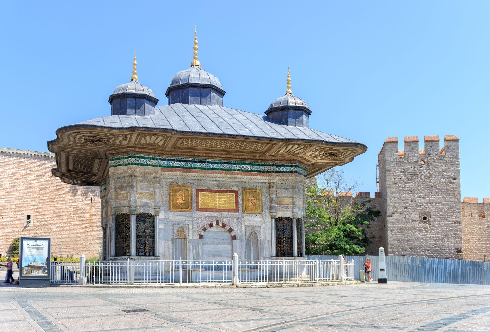 Фото фонтана Султана Ахмеда Третьего