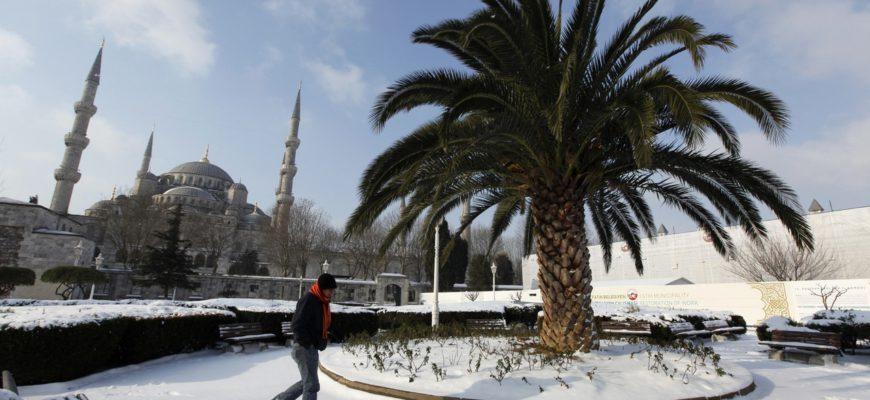 Январская погода в Турции