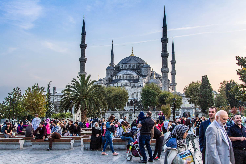 Фото туристов и жителей Стамбула