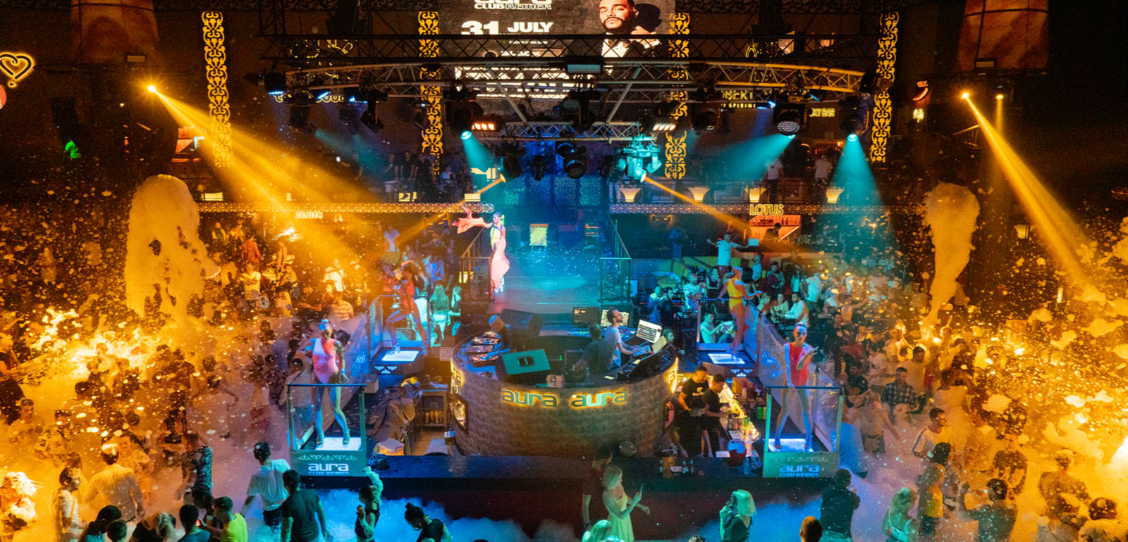 Фото ночных развлечений в Кемере
