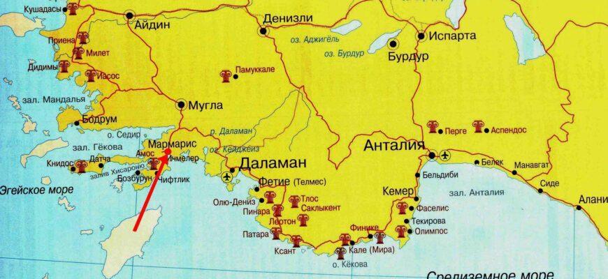 Фото карты Турции