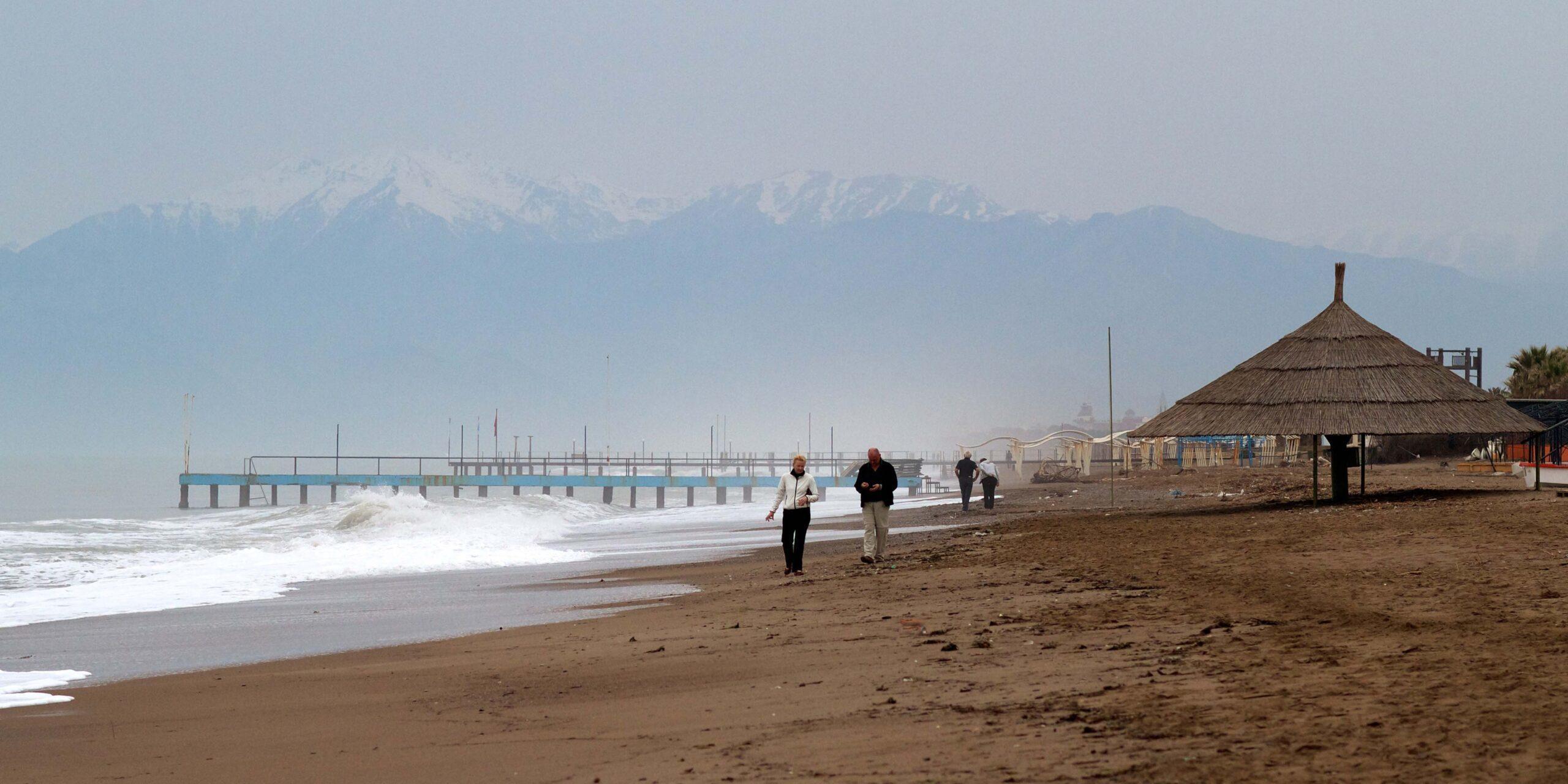 фото Пляж осенью