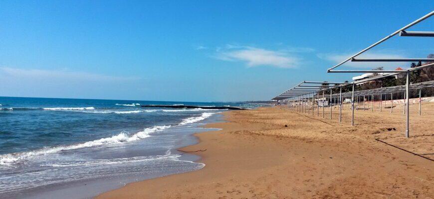 Пляж в Сиде Турция